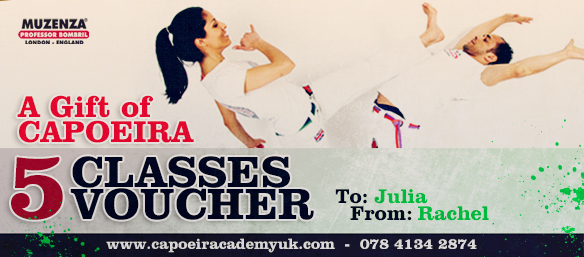 Capoeira Academy UK gift voucher