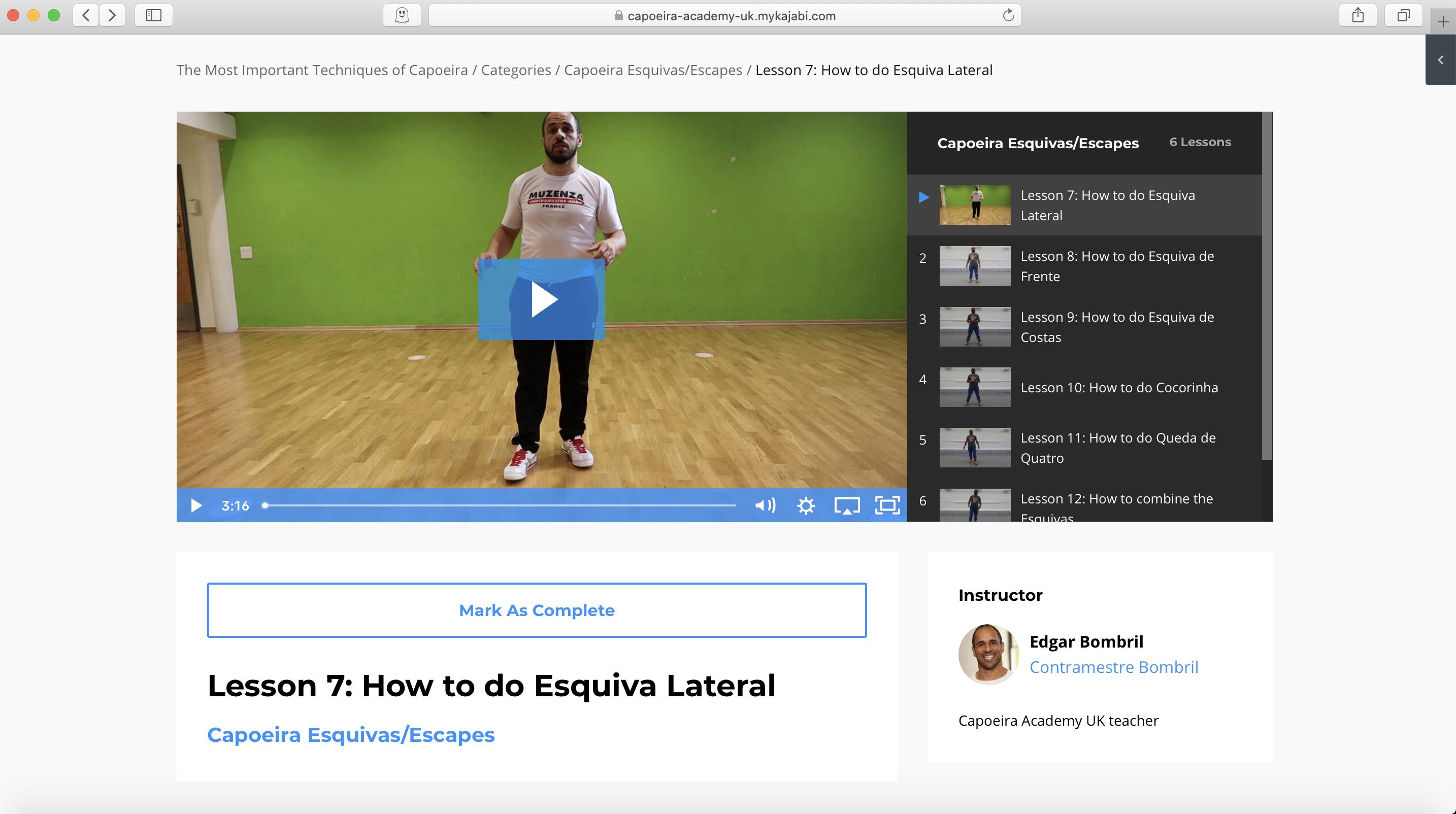 Capoeira course